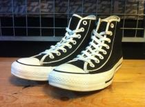 converse ALL STAR WITH-PIPING HI (ブラック) USED