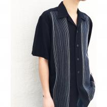 【 Open collar design s/s shirt 】 recommend for Men.