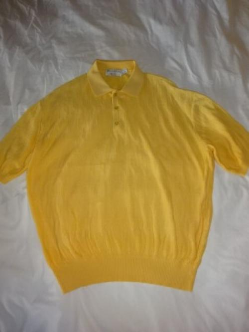 1990's Cotton Summer Knit Polo Shirt写真