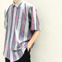 【 S/S Multi-striped B.D shirt 】 recommend for Men.