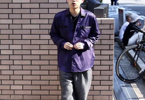 NEW ARRIVAL  LITTLEBIG 2018-19AW Open Collared Shirt (Black or Purple)写真