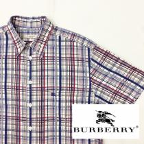 【 BURBERRY 】 checked pattern S/S shirt recommend for Men.