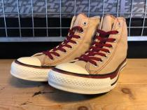 converse ALL STAR MT-POP HI (ベージュ/マルーン) USED