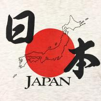 【 JAPAN 日の丸 design T-shirt 】 recommend for Men.