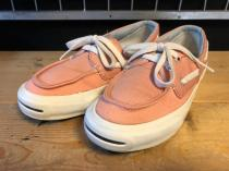 converse JACK PURCELL BOAD-MOCCASIN SLIP (ピンク) USED