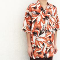【 leaf pattern s/s hawaiian shirt 】 recommend for Men.