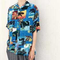 【 Landscape design s/s  shirt 】 recommend for Men.