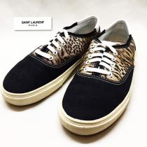 【 SAINT LAURENT 】leopard canvas sneakers