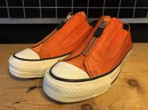 converse ALL STAR NYLON ZIP OX (オレンジ) USED