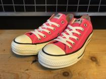 converse ALL STAR OX (ネオンピンク) USED