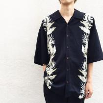 【 Black body s/s hawaiian shirt 】 recommend for Men.