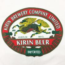 【 80s KIRIN BEER printed t-shirt 】 made in usa recommend for Men.