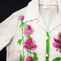【 Floral design s/s polyester shirt 】 recommend for Men.