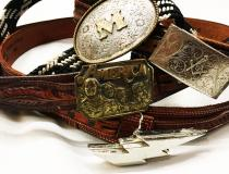 【 vintage Buckle lether belt 】 recommend for Men.