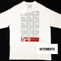 【 VETEMENTS 】 18ss calender T-shirt 新品未使用品 recommend for Men.