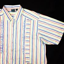 【 Multi stripe cuba / guayabera S/S shirt】 recommend for Men.