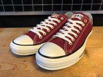 converse ALL STAR OX (マルーン) USED