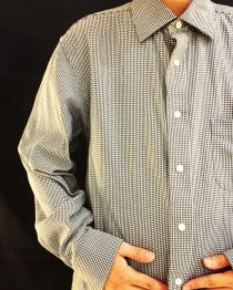 【 Houndstooth design l/s shirt 】