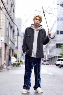 SYU. HOMME/FEMM 2018-19AW Velours track pants