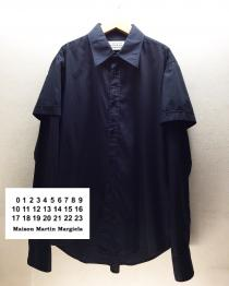 【 Martin Margiela ⑩ 】 layered design l/s  shirt recommend for Men.