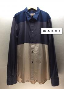 【 MARNI 】design L/S shirt