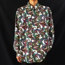 【 paisley pattern design l/s shirt 】新品未使用 recommend for Men
