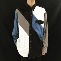 【 switching design l/s denim shirt 】 recommend for Men.