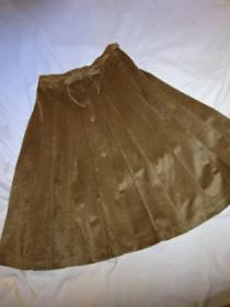 1970's Micro Suede Pleats Skirt