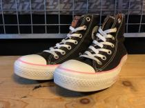 converse ALL STAR HI (ブラック/ピンク) USED