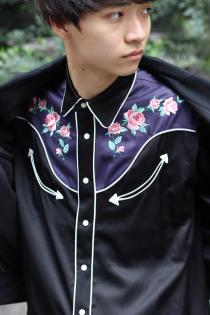 NEW ARRIVAL JOHN MASON SMITH 18-19AW EMBROIDERED WESTERN SHIRTS