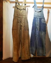 【 40s French vintage 】 moleskin overall
