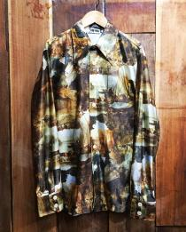【 70's l/s polyester shirt 】 recommend for Men.