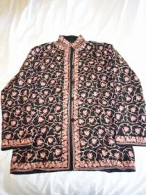 Big Silhouette Embroidery Long Sleeve Shirt Jacket