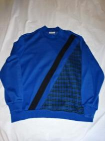 1980~90's Switched Design Mock-Neck Sweat Shirt
