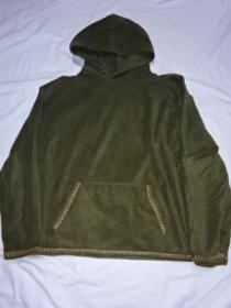 Stitched Design Fleece Pull-Over Hoodie