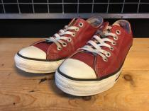 converse ALL STAR LEATHER OX (レッド) USED