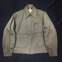 【 50's USA 】 WHIPCORD CLOTH ZIP JACKET recommend for Men.