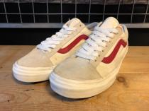 VANS OLD SKOOL VINTAGE (ホワイト/レッド) USED