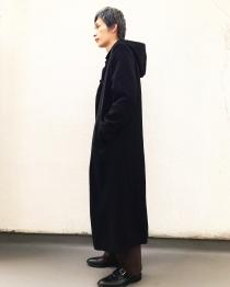 【 black long length coat 】