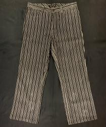 【 striped pattern wide pants 】 recommend for Men.