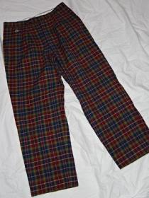 Design Wool Check Pants