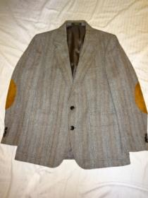 1970's Tweed Tailored Jacket with Elbow Patch