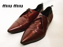 【 miu miu 】 Pointed toe design shoes recommend for Men.