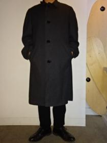 1950's Wool Check Long Coat