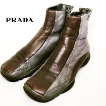 【 PRADA 】 Side Zip Boots recommend for Men.