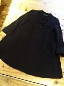 1990's Design Wool No-Collar Coat