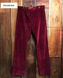 【 BALENCIAGA 】 velvet design pants recommend for Men.