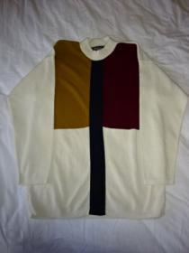 1980~90's Switched Design Mock-Neck Sweater