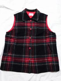 1970's Wool Check Down Vest