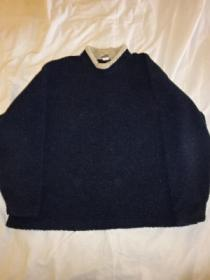 1990's Bi-Color Boa Fleece Mock-Neck Cut and Sewn